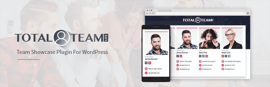 total team lite - 5+ Best Free WordPress Team Showcase Plugins (Handpicked Collection)