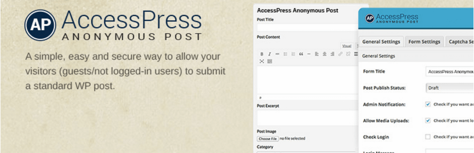 accesspress anynomous post - Top 5 Free Frontend Post WordPress Plugins