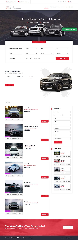 CarListings - Best Free Automobile WordPress Theme