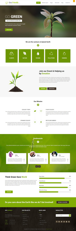 ecofriendly best free science wordpress theme - 10+ Best Free Science WordPress Themes