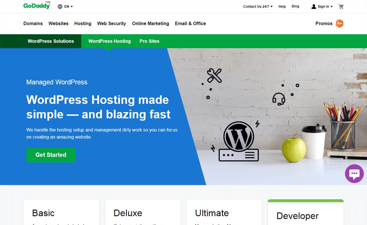 GoDaddy - Reliable WordPress Hosting Providers WPAll Club