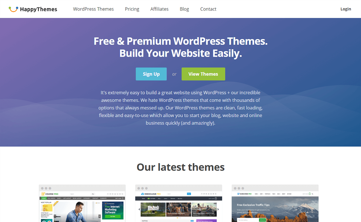 20% Off in WordPress Products  by Happy Themes