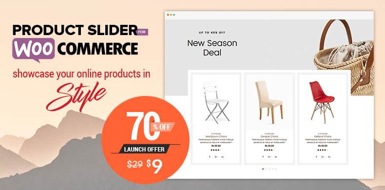 70% off on Product Slider for WooCommerce