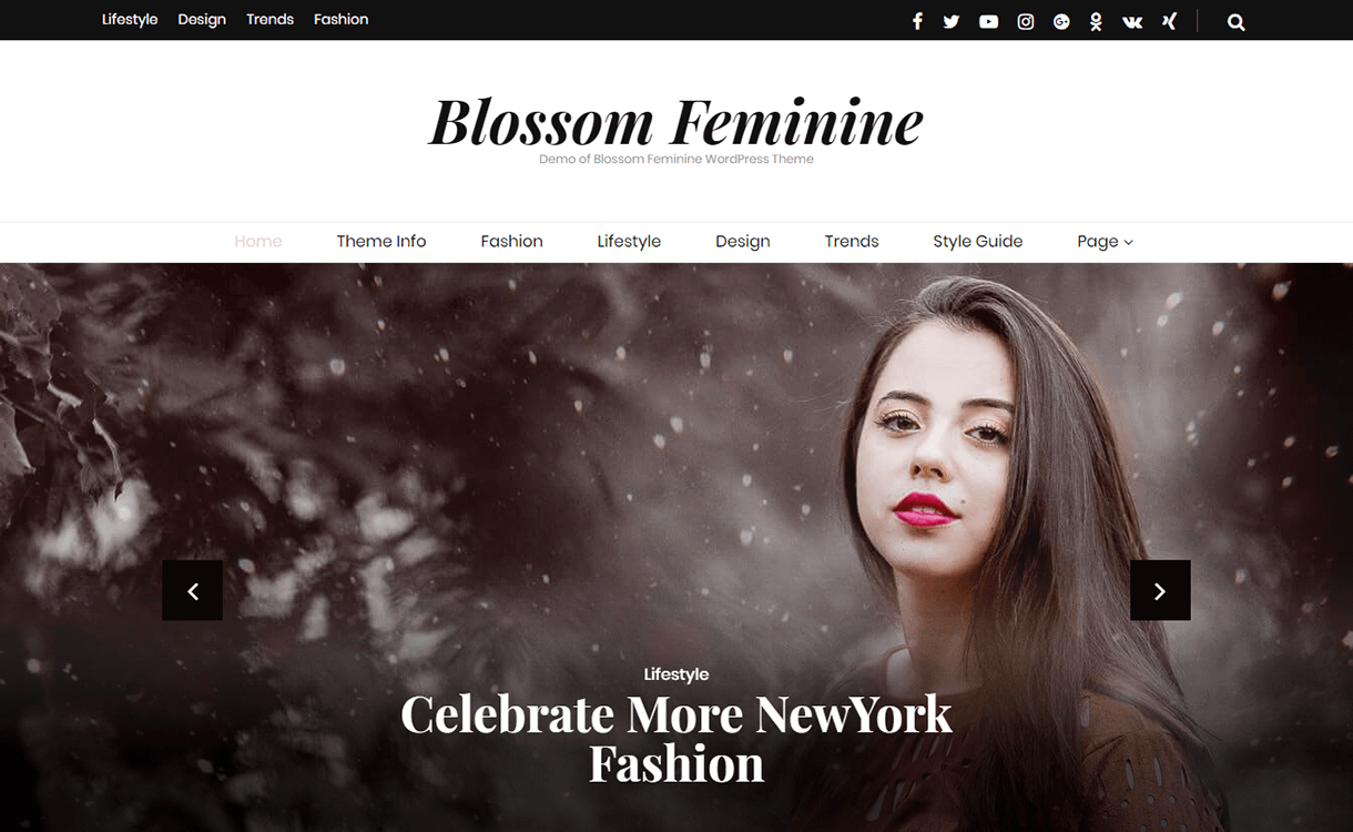 blossom feminine free wordpress theme december - 20 Best Free WordPress Themes December 2017