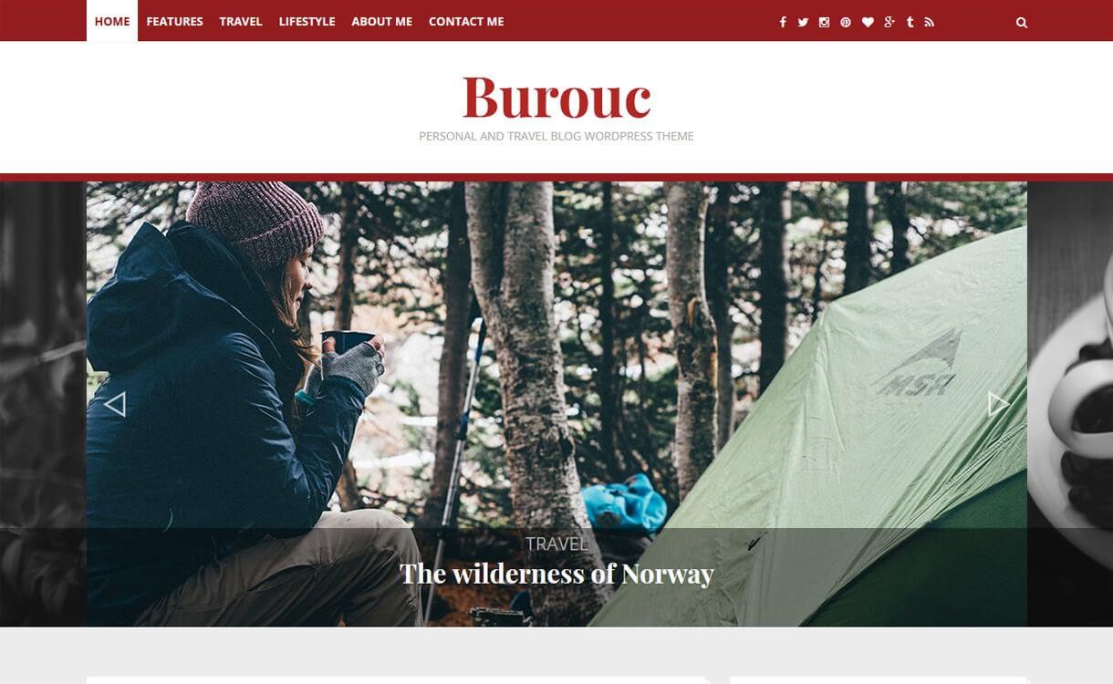burouc best travel blog wordpress themes - 21+ Best WordPress Travel Blog Themes 2019
